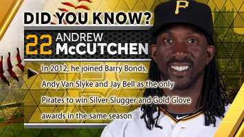 In 2012, he joined Barry Bonds, Andy Van Slyke and Jay Bell as the only Pirates to win Silver Slugger and Gold Glove awards in the same season