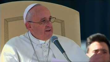 Gov. Tom Corbett and his wife presented Pope Francis with gifts from various Pennsylvania cities while visiting Rome on behalf of the World Meeting of Families, which will be held in Philadelphia in 2015.