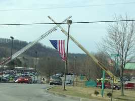 Firefighters came from across Western Pennsylvania to pay their respects at a funeral service for Lance Wentzel at Westmoreland County Community College in Youngwood.