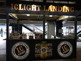 The new I.C. Light Landing in the left field bleachers area will sell Pirates-branded beer cans during all home games at PNC Park.
