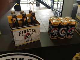 Pirates-branded I.C. Light beer