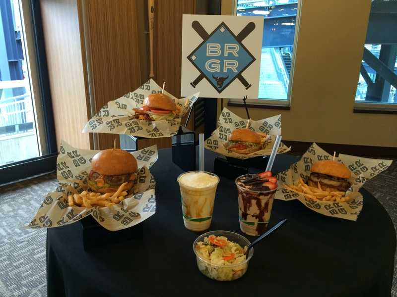 These are some of the burgers that will be sold at BRGR at PNC Park.