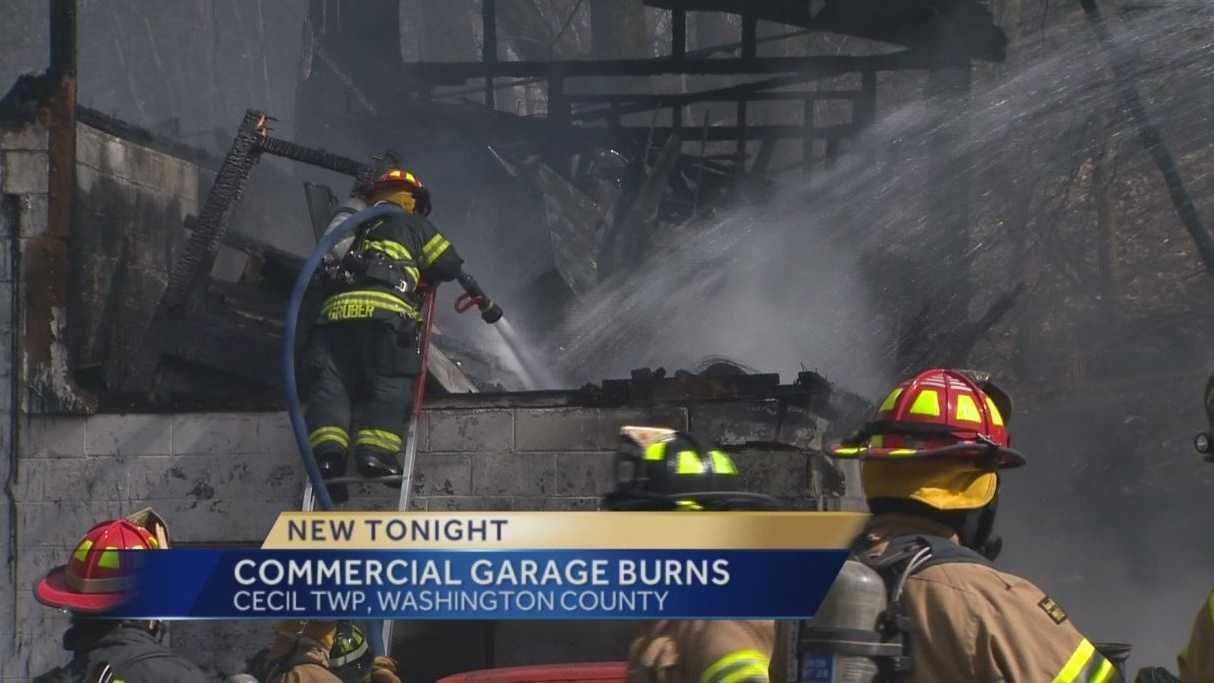commercial garage fire
