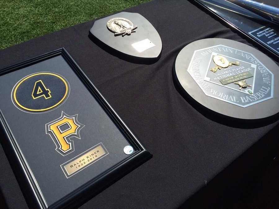 Sneak peek! Some of the awards being given out today at the Pirates home opener! #WTAEbucs
