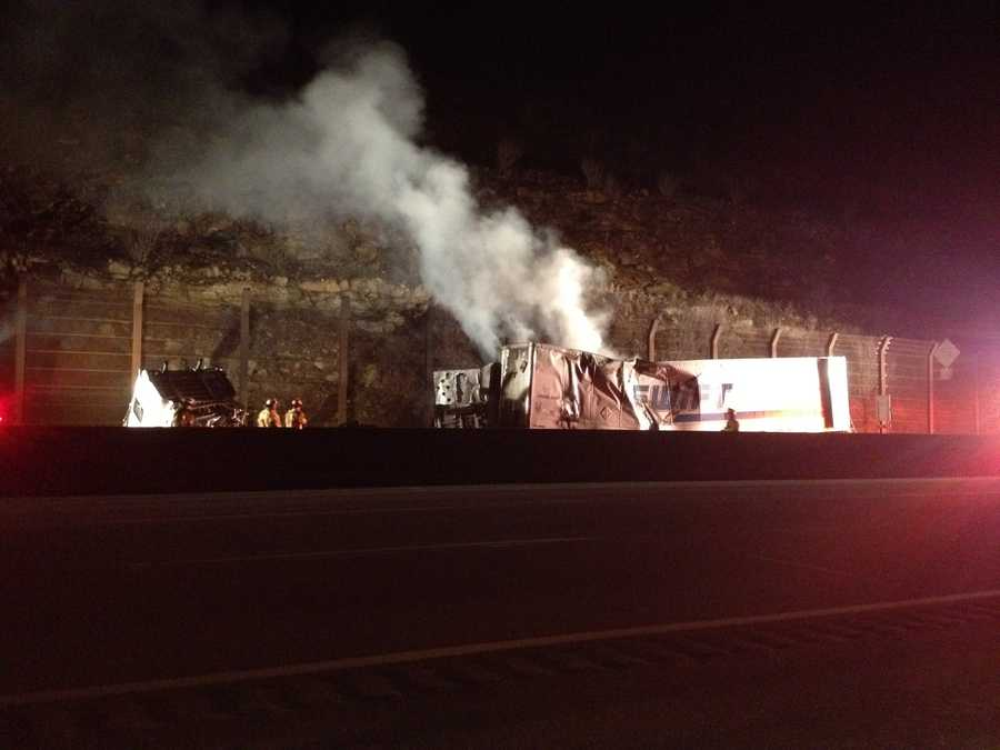 The westbound lanes of the Pennsylvania Turnpike between the Somerset and Donegal exits were closed after a vehicle fire and a related crash overnight.