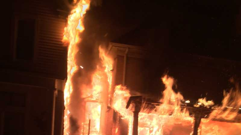 A house on Victoria Avenue in New Kensington was destroyed by fire.
