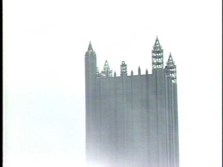 Image captured during construction of PPG Place in 1983.