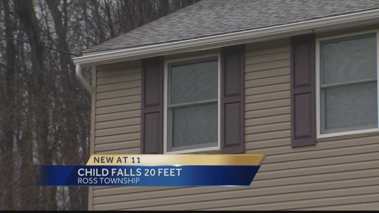 Girl falls from window at Ross Township home