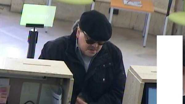McDonald police say this is a surveillance video image of Richard Watters at Huntington Bank.