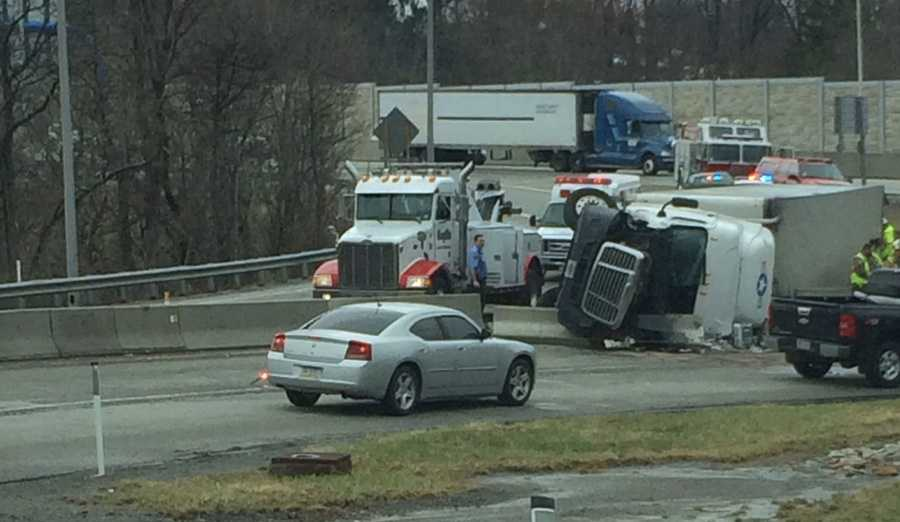 Nick Totin shared this photo on u local and said the tractor-trailer was exiting the turnpike at Irwin.