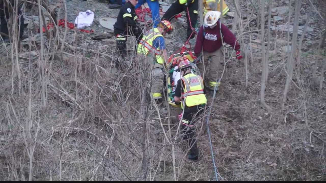 Young woman rescued from Route 28 hillside