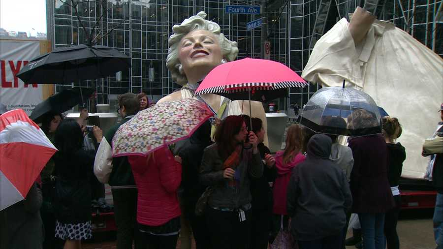 """Forever Marilyn"" is the work of artist Seward Johnson."