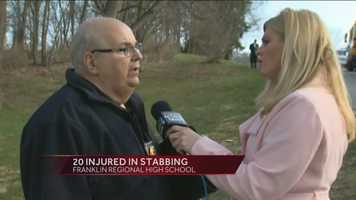 Dan Stevens, deputy emergency management coordinator for the Westmoreland County Department of Public Safety, said as many as 20 people were injured. Not all of them were stabbed.