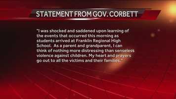 Statement from Gov. Corbett