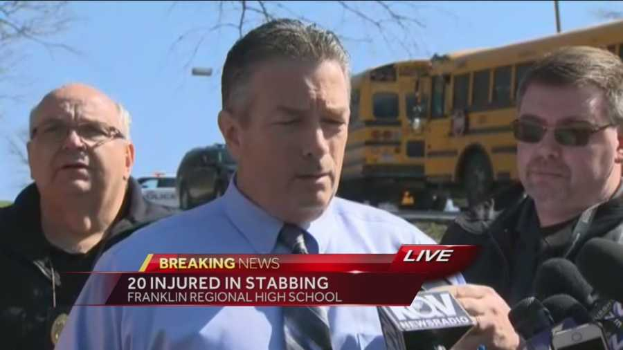 A briefing on the stabbings at Franklin Regional High School.