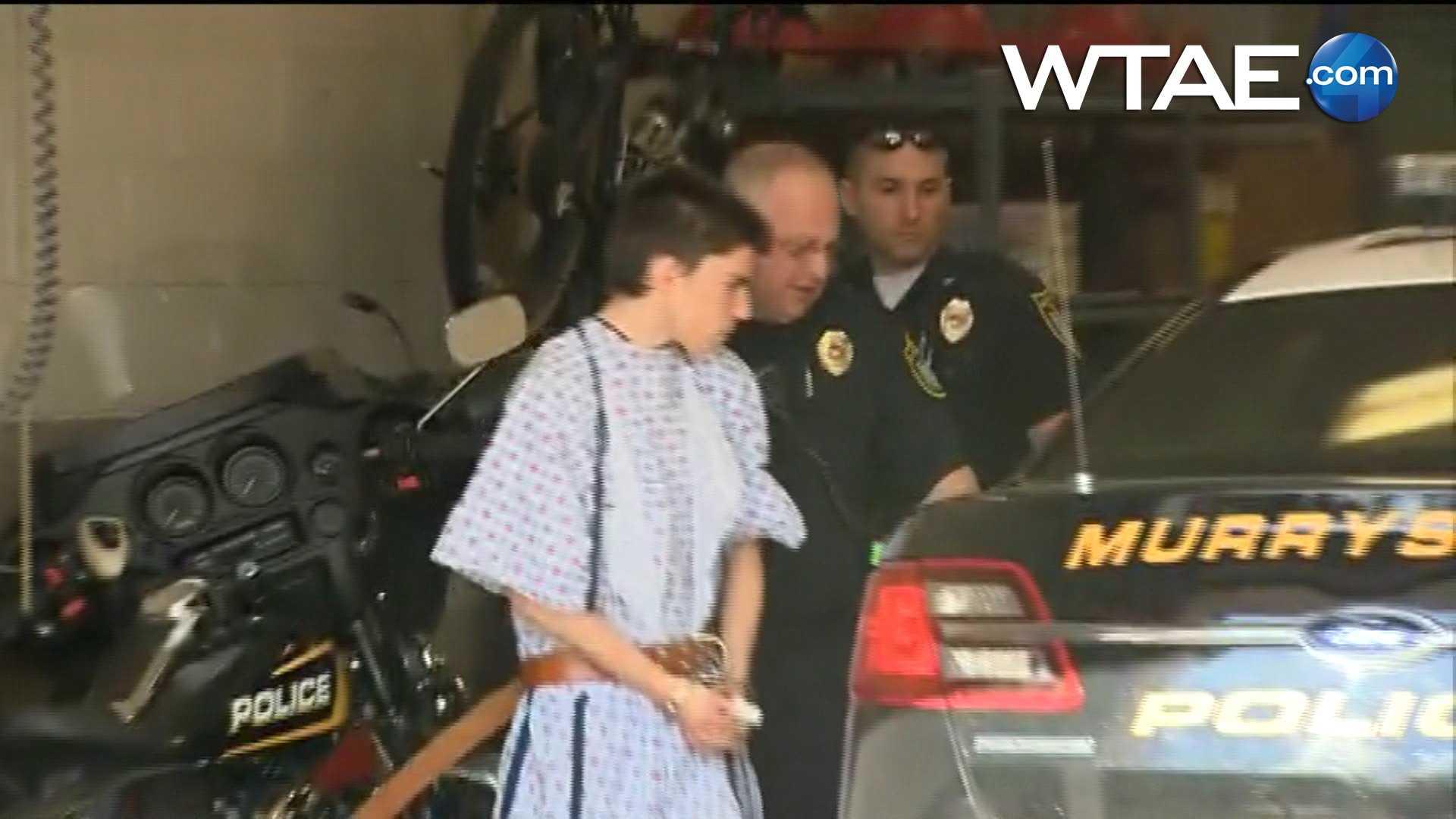 img-Franklin Regional stabbings suspect leaves in handcuffs
