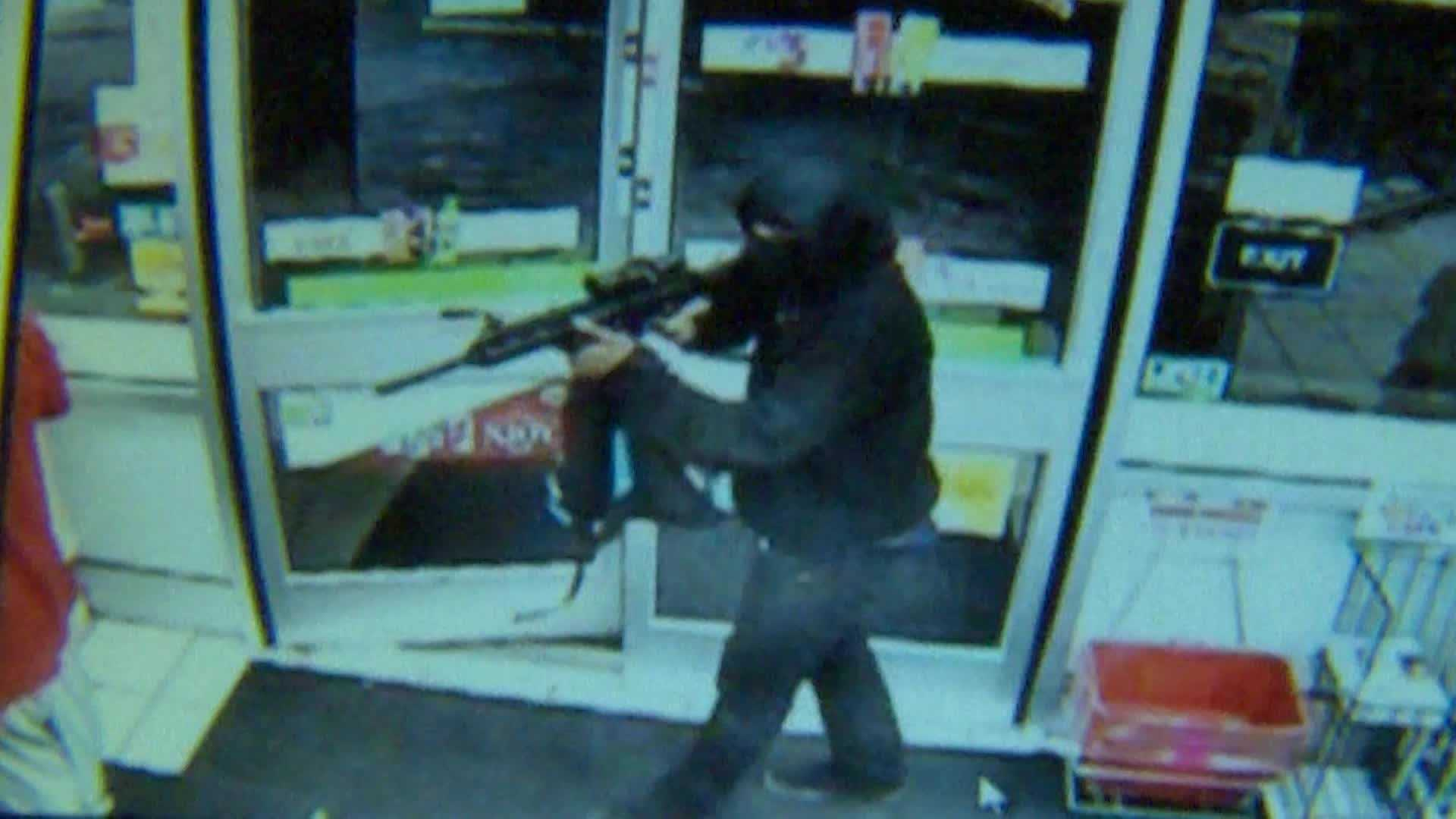 The 7-Eleven convenience store on James Street was the target of an armed robbery.