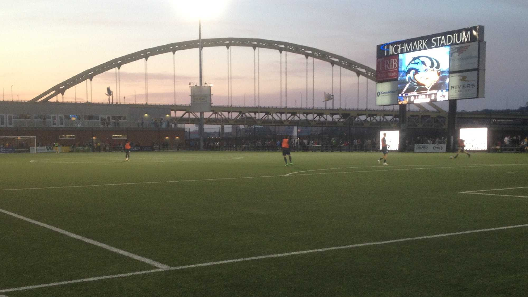 Highmark Stadium, home of Pittsburgh Riverhounds soccer.