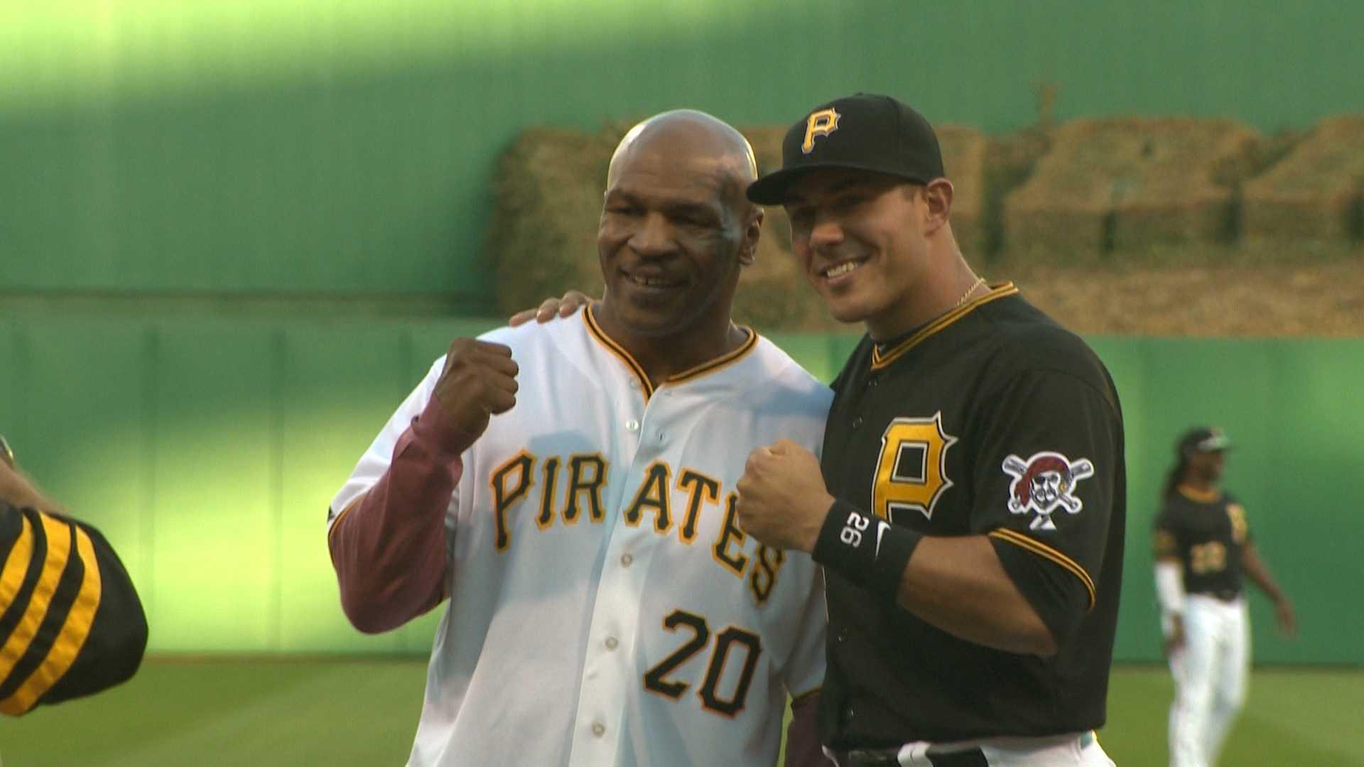 Mike Tyson and Pirates catcher Tony Sanchez