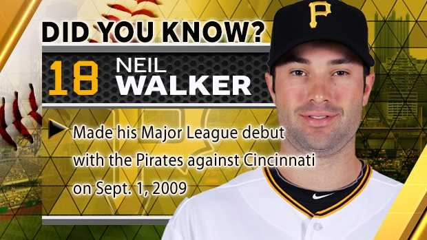 Made his Major League debut with the Pirates against Cincinnati on Sept. 1, 2009