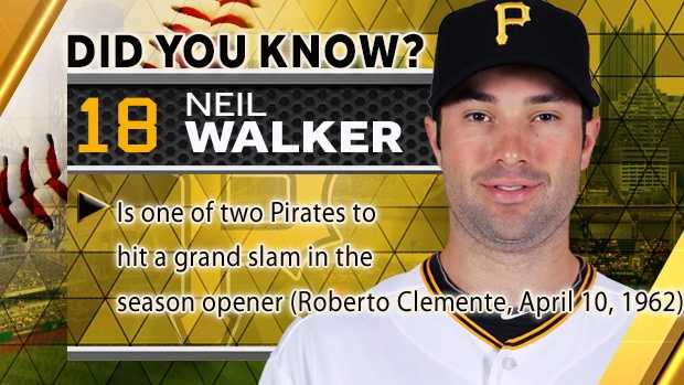 Is one of two Pirates to hit a grand slam in the season opener (Roberto Clemente, April 10, 1962)