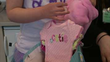 She decided to collect baby clothes for infants in the neonatal intensive care (NICU) and pediatric units at West Penn Hospital, where her mother works as a nurse.