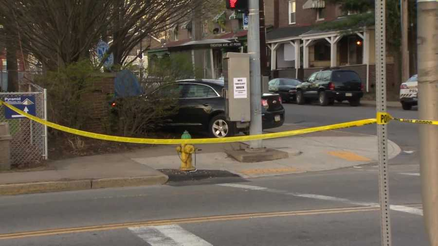 The chase ended when the suspect's car crashed at the corner of Penn and South Trenton avenues.