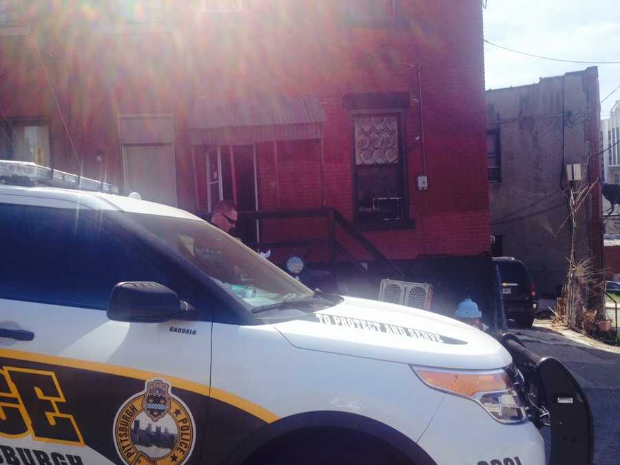 A wanted man was found inside this house on Reed Street at the corner of Pride Street in the Hill District.