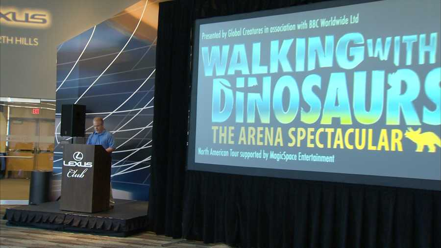 """With the Penguins out of town for the Stanley Cup playoffs, dinosaurs take over Consol Energy Center. """"Walking With Dinosaurs: The Arena Spectacular"""" will return to Pittsburgh later this summer."""