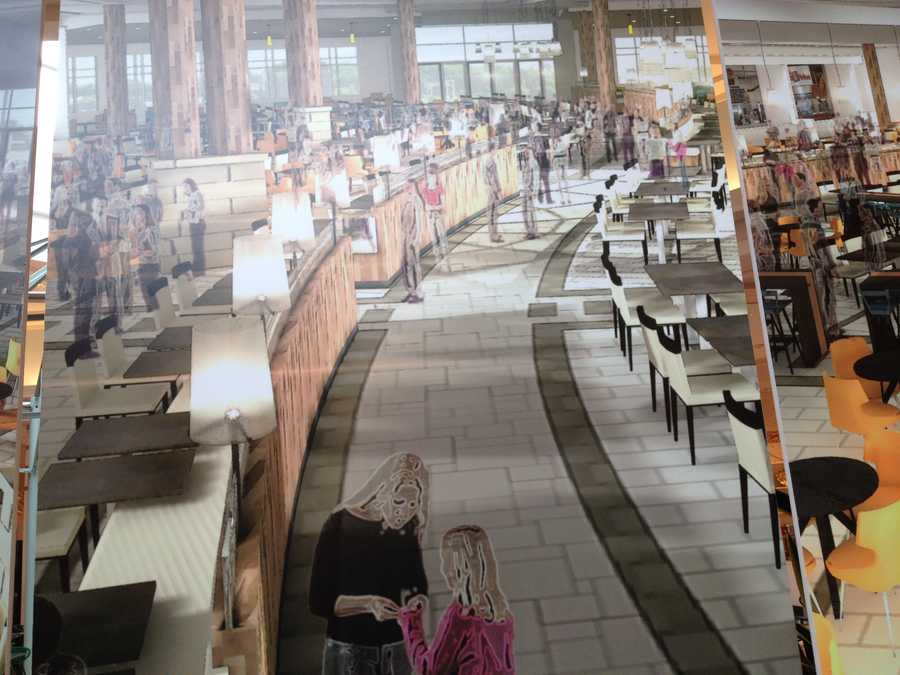 A totally new dining atmosphere will replace the existing food court.