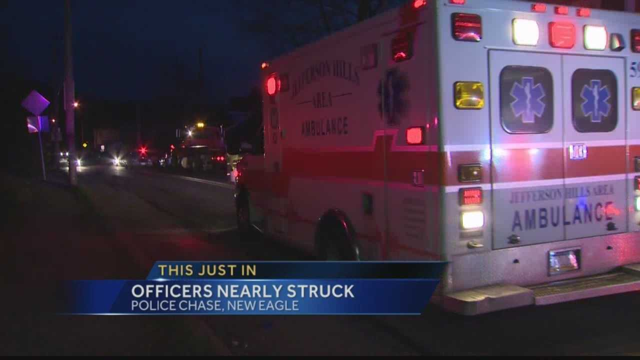 Driver attempts to run over officers during police chase