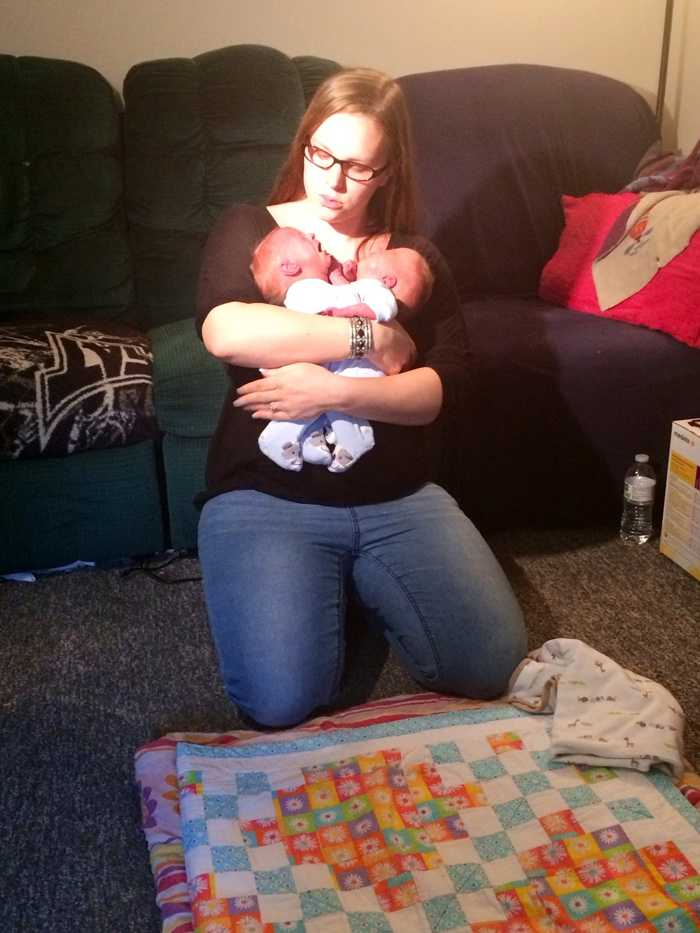 """Michelle Van Horne said she was told by doctors during her pregnancy that Andrew and Garrett were conjoined. """"I broke down. I started crying,"""" she said. """"I was scared just hearing that."""""""