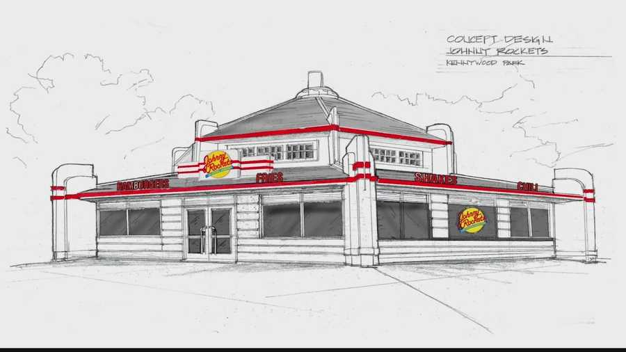 The concept design for the new Johnny Rockets restaurant at Kennywood