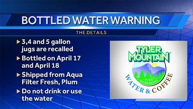 E. coli warning issued for Tyler Mountain Water