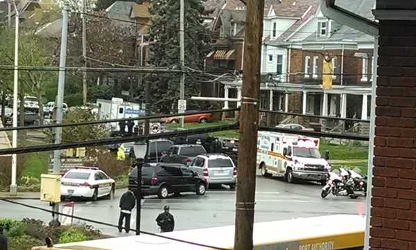 This photo of the Termon Avenue SWAT situation in Brighton Heights was shared on u local.
