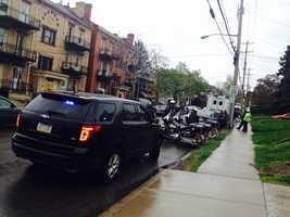 A SWAT team was called to an address on Termon Avenue in the Brighton Heights area of Pittsburgh.