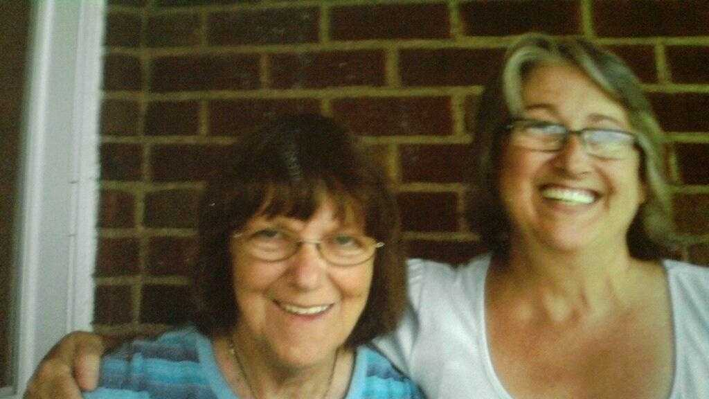 Patricia Walls (left), pictured with a longtime friend.