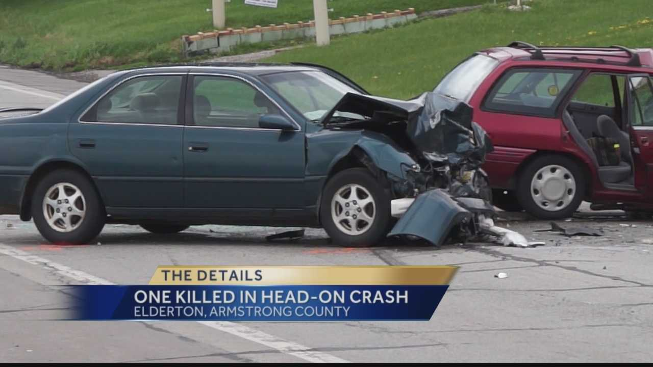 The coroner says one vehicle crossed the centerline of Route 422 in Plumcreek Township, near Elderton, and collided with a vehicle heading in the opposite direction. One of the drivers died of head injuries.