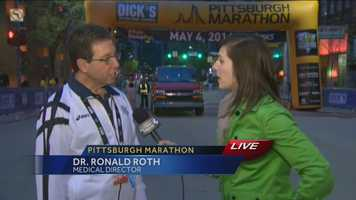 Pittsburgh's Action News 4's Courtney Fischer chats with the marathon's Medical Director.
