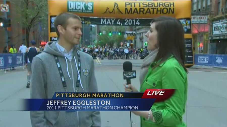 Pittsburgh's Action News 4's Courtney Fischer reports from the starting line with Jeffrey Eggleston, the 2011 Pittsburgh Marathon Champion