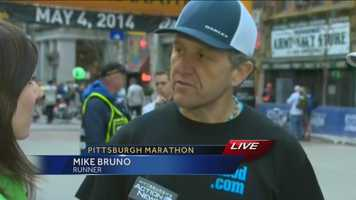 Pittsburgh's Action News 4's Courtney Fischer reports from the starting line with Mike Bruno, a local father who is running blindfolded in honor of Autism and his Daughter.