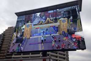 Check out the winners on this big screen. @TrailexLEDEvent will build one for you $420K #WTAERun