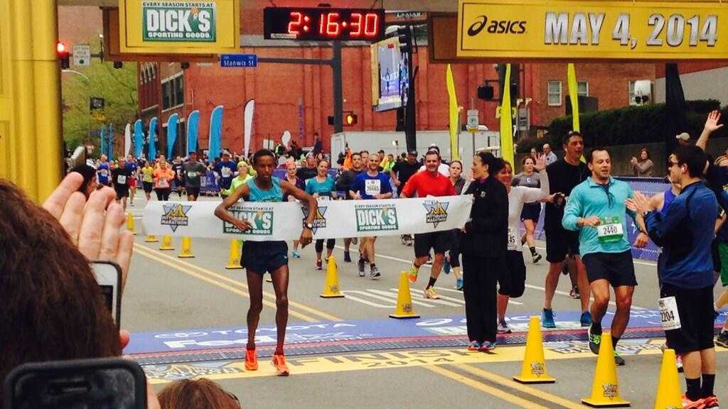 Congratulations to Gebo Burka on winning the Pittsburgh Marathon