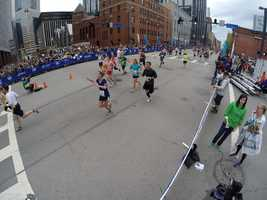 #PGHMarathon winner minutes away from crossing the finish line