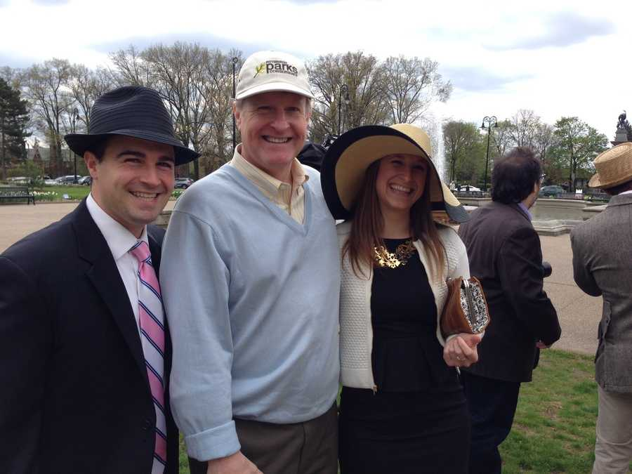 City Councilman Corey O'Connor, Allegheny County Executive Rich Fitzgerald and his daughter, Caroline