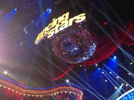 I could not stop staring at the mirror ball! It was magnificent!! I want one at home! @DancingABC