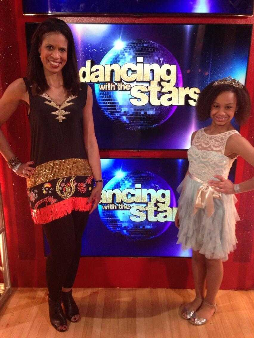 Mother - Daughter moment backstage of Dancing With The Stars! Amazing experience last night! @DancingABC