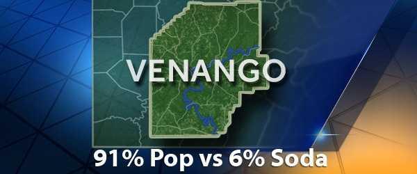 According to PopvsSoda.com survey, Venango County is 91% Pop vs 6% Soda