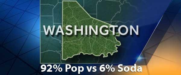 According to PopvsSoda.com survey, Washington County is 92% Pop vs 6% Soda