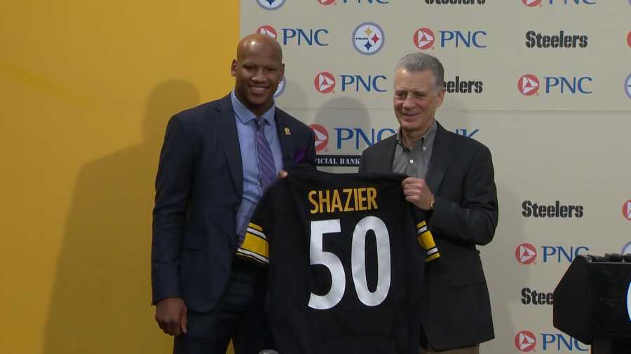 2014: The Steelers chose Ryan Shazier with the No. 15 pick in the first round of the NFL Draft.